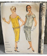 McCall's 4443 Givenchy 1958 Chemise Dress Pattern Size 10 Bust 31* - $66.00