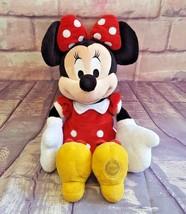 "Disney Store Minnie Mouse 22"" Plush Stuffed Animal Red Polka Dot Dress - $14.24"