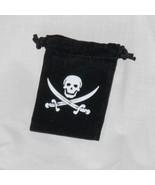 black velveteen Jolly Roger drawstring pouch  - $2.00