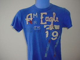 American Eagle Outfitters Vintage Fit Short Sleeve Blue T Shirt Womens G... - $200,27 MXN