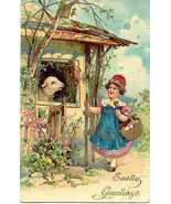 Happy Easter Wishes Paul Finkenrath of Berlin 1910 Post Card - $7.00