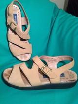 Easy Spirit 7.5N ANTI-GRAVITY Women's Tan Leather Slingback Sandals Mrsp $77 - $24.74