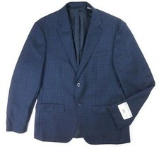 NEW MICHAEL KORS NAVY BLUE CHECKERED 100% WOOL SPORT COAT BLAZER SIZE 38R - $113.05