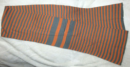 Reversible Orange Grey Purple 100% Cotton Scarf Size 66 x 8 NEW w/o tags - $9.90