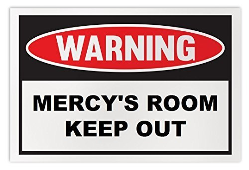 Personalized Novelty Warning Sign: Mercy's Room Keep Out - Boys, Girls, Kids, Ch