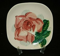 "Old Vintage Red Wing Pottery 6"" Saucer Lexington Rose Pattern 1942 ~ 1955 - $9.89"