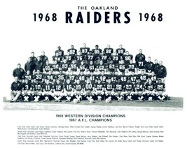 1968 OAKLAND RAIDERS 8X10 TEAM PHOTO FOOTBALL PICTURE NFL AFL CHAMPS - $3.95