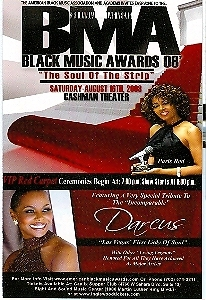 Black Music Awards 2008 Vegas Promo Card