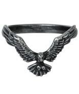 Ravenette Ring Flying Black Raven Blackened Pewter Women's Alchemy Gothi... - $14.95