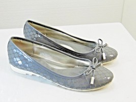CALVIN KLEIN brand womens flats size 6 m grey color slip on with bow nic... - $22.26