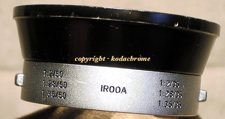 Leica RF IROOA Snap-On Lens Hood-Summaron-Summitar-Elmar-Reversible