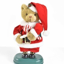 "Christmas Santa Plush Bear 13"" Motion-ette With Candle Lamp - $29.69"