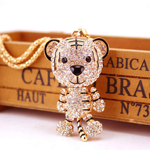 Truly Adorable NEW Betsey Johnson Tiger Pendant/Chain~Articulated Head+A... - $39.99