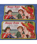 Vintage Needle Book Happy Home Sewing Gold Eye Needles Threader 2 packs ... - $6.92