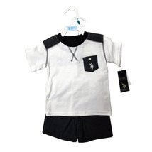 Us Polo 2 Pieces Baby Set 12-24 Months (12 Months, WHITE/NAVY) - $14.69