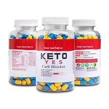 KETO Yes Carb Blocker - Blocks the absorption of Carbohydrates and redirects the