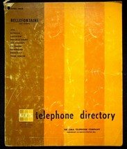 April 1968 Bellefontaine Ohio Lima Telephone Directory With Yellow Pages - $17.05