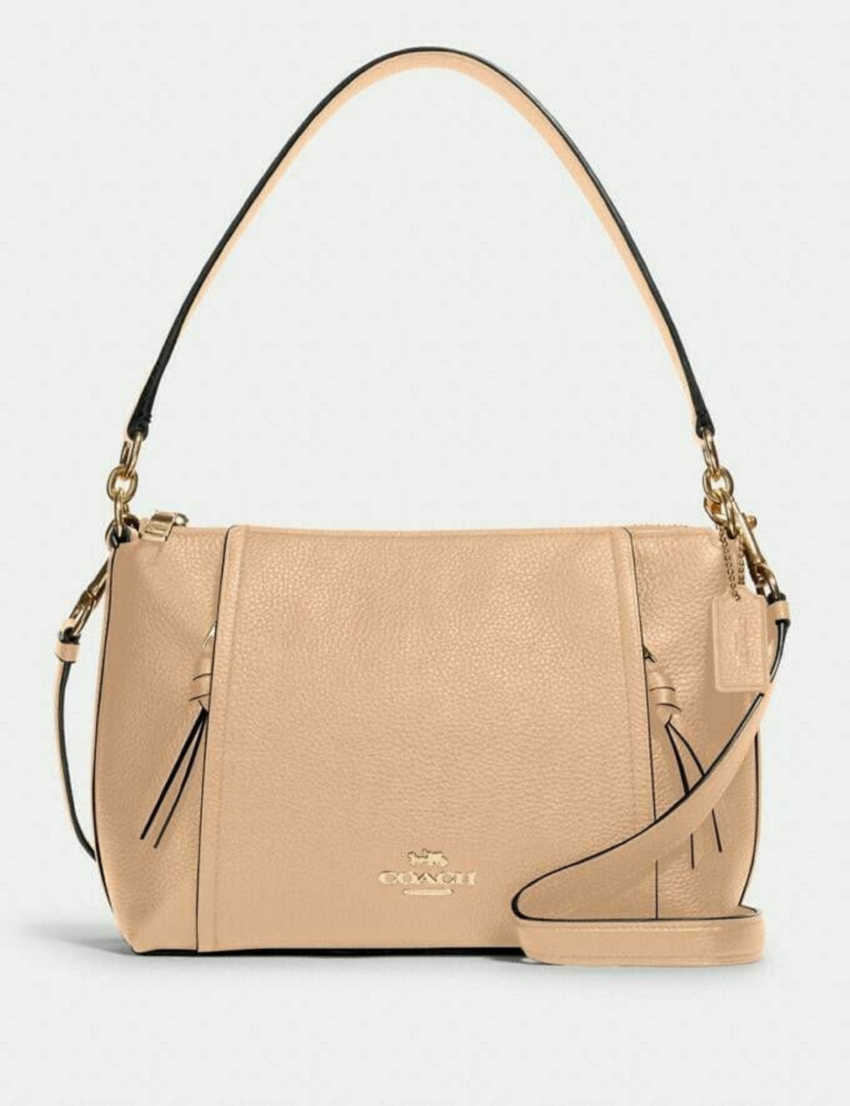 Primary image for Coach Im/Taupe Small Marlon Shoulder Bag / FREE SHIPPING