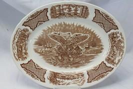 "Alfred Meakin Fair Winds Platter Oval 14.875"" Historical Scenes  - $29.39"