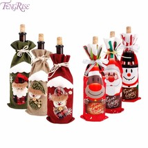 Christmas Decorations for Home Santa Claus Wine Bottle Cover Snowman - $1.59+
