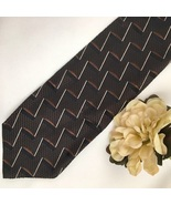 Hugo Boss Brown & Black print men's silk business tie - $49.95