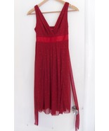 Ruby Rox Size Small Red Sparkle Shiny Sleeveless Knee Length Dress NEW - $10.00