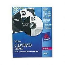 Avery CD/DVD Spine Laser Label - Permanent 100 / Pack White - $23.76
