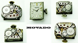 MOVADO Antique Vintage Watch Movement For Parts, Replacement, Repair Ver... - $13.09+