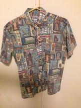 Reyn Spooner Hawaiian Traditionals 2002 patriotic  Medium M Polo Hawaiia... - $28.71