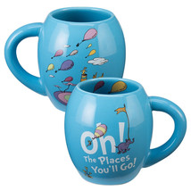 Dr. Seuss Oh The Places You'll Go 18 ounce Oval Ceramic Mug, NEW UNUSED - $11.60