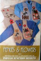 """Pattern 314 Vest & Appliques """"Fences & Flowers"""" - $4.99"""