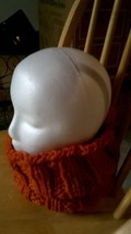 NEW Handmade Orange Cabled Chunky Long Knitted Cowl - €25,46 EUR