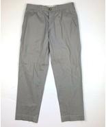 PRADA Stretch Straight Slim Chino Pants Gray Men sz 46 IT 30 US - $129.00