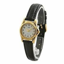 Casio Women's Black Leather Strap Watch, White Dial, LTP1096Q-7B - $16.93 CAD