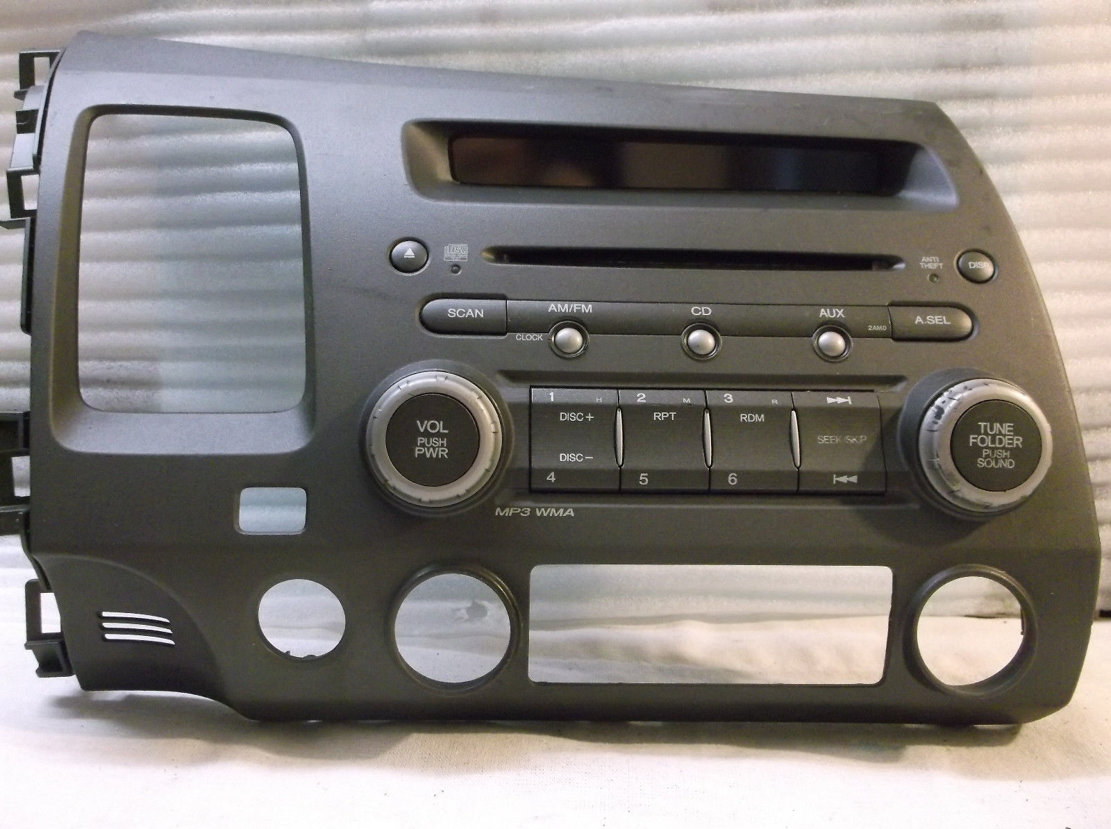 06 07 08 09 10 11 honda civic am fm radio cd player mp3. Black Bedroom Furniture Sets. Home Design Ideas