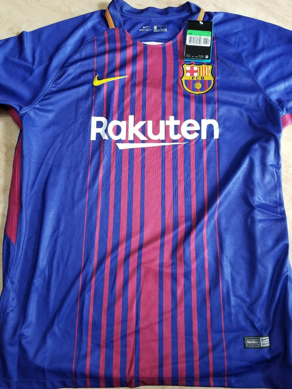 03295c1b4 NWT NIKE FC Barcelona Vapor Match 2017 18 Home Mens Soccer Jersey 847190-456