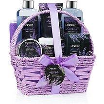 Home Spa Gift Basket, 9 Piece Bath & Body Set for Women and Men, Lavender & Jasm image 3