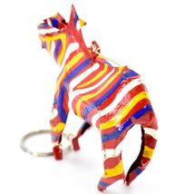 Handcrafted Painted Colorful Recycled Aluminum Tin Can Zebra Ornament Zimbabwe image 4