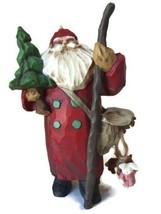 1998 Hallmark Making His Way Keepsake Ornament Club Folk Art Santa Claus... - $9.89
