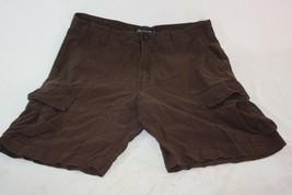 Ralph Lauren Chaps Cargo Shorts Men's 32 Brown Linen Rayon - $8.86