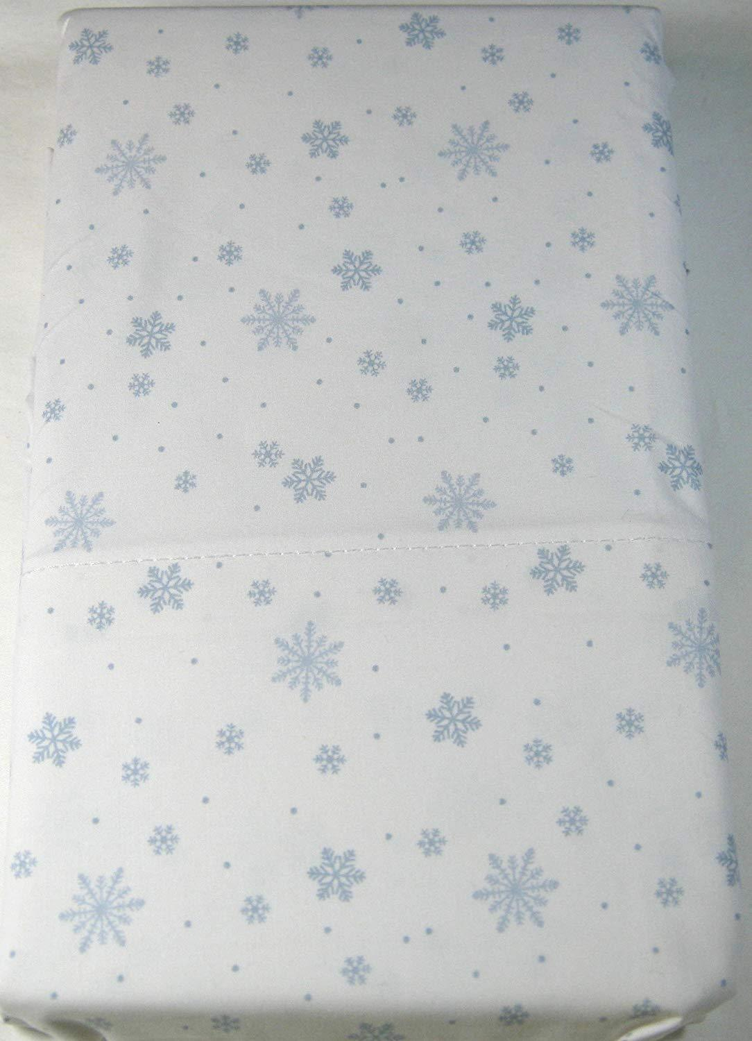 Ralph Lauren Blue Snowflakes on White Pillowcases Standard