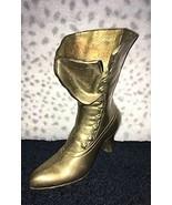 Brass Boot Leonard Silver MFG. CO 9 inches - $12.04