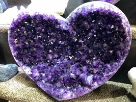 AMETHYST HEART GEODE FROM BRAZIL PIRATE GOLD COINS TREASURES CRYSTAL QUARTZ - $16,950.00