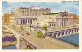 Union Station Chicago 1943 Vintage Post Card - $5.00