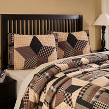 Bingham Star 6-pc KING Quilt Set - Quilted Shams, Pillow Cases and Accent Pillow