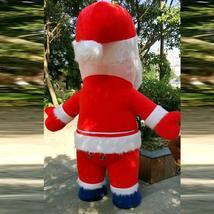 Christmas Inflatable Santa Claus Mascot Costume Saint Nick Suits Cosplay Plush P image 6