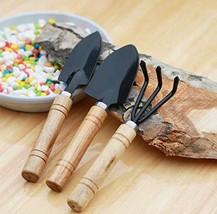 MALARNEY 3 Piece Gardening Tool Set Mini Wood Handle Shovel Trowel Gardening Too