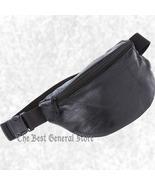 "9"" Black Leather Waist Belt Hip Bag Fanny Pack Man Women Travel Pouch 40... - $10.99"