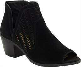 Lucky Brand Bahrie Leather Shootie BLACK 9.5W NEW 673-187 - $69.28