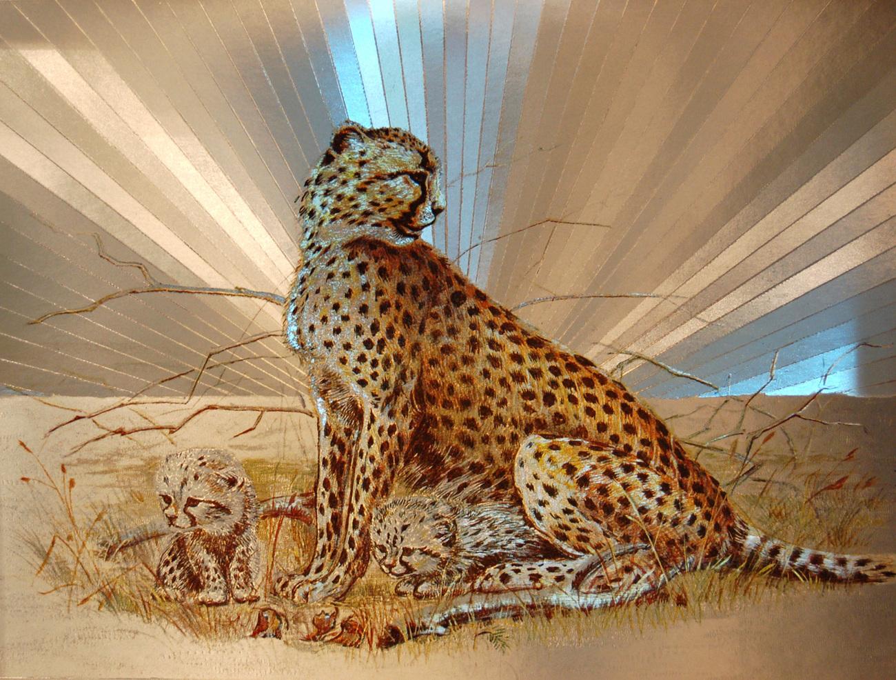 654432 cheetah and cubs